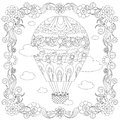 Anti stress abstract balloon, clouds, square flowering frame