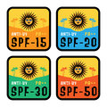 Anti-UV labels set