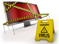 Anti virus concept Stock Images