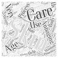 Antiaging skin care word cloud concept background text Royalty Free Stock Image