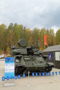 Antiaircraft installation shilka nizhny tagil russia sep the international exhibition of armament military equipment and Stock Photo