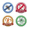 Antibacterial badges set Royalty Free Stock Photo