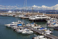 Antibes harbor french riviera south of france the in the resort on the corniche de lesterel on the cote dazur in the Stock Photos