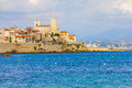 Antibes south of france the city Royalty Free Stock Images
