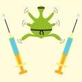 Antibiotics resistance ninja concept