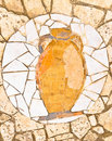 Antic amphora mosaic Stock Photography