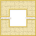 Antic maze frame Royalty Free Stock Photo