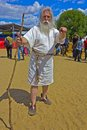 Antic philosopher june moscow russia festival of the historic reconstruction times and ages in the park kolomenskoye aged Stock Photos
