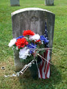 Antietam Cemetary Grave Royalty Free Stock Photo