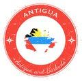 Antigua circular patriotic badge.