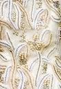 Antikes Hochzeits-Gewebe Lizenzfreies Stockfoto