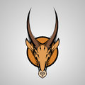 Antilope graphic mascot head with horns vector illustration Royalty Free Stock Photography
