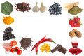 Antioxidants border frame image of healthy on a white background Royalty Free Stock Photo