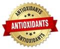 antioxidants 3d gold badge Royalty Free Stock Photo