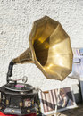 Antiquarian phonograph antique which still playing well dublin ireland Royalty Free Stock Image