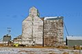 Antiquated elevator system an old rural for grain storage has discontinued operation Stock Photography