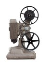 An antique 8mm movie projector on white Stock Photography