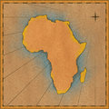 Antique Africa Map Stock Image