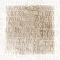 Antique Alphabet Background Royalty Free Stock Photo