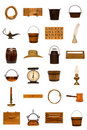 Title: Antique Americana Old Objects Collection Isolated