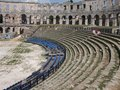 Antique amphitheatre in Pula Stock Photos