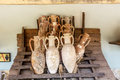 Antique amphora in the fortress of bodrum turkey Royalty Free Stock Photos