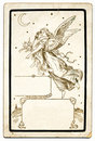 Antique Angel Card Royalty Free Stock Image