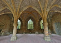 Antique arches old of the famous th century orval abbey in the gaume region in belgium Stock Photo