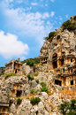 Antique architecture in Myra .Turkey. Royalty Free Stock Photo