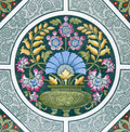 Antique Arts & Crafts tile Royalty Free Stock Image