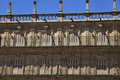 Antique balcony in Salamanca Royalty Free Stock Photo