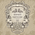 Antique and baroque cartouche ornaments frame. Vintage architectural details design elements Royalty Free Stock Photo