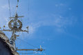 Antique battle ship communication tower Royalty Free Stock Photo