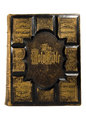 Antique bible cover front on white background Stock Photography