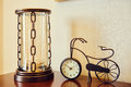 Antique bicycle model clock Royalty Free Stock Photo