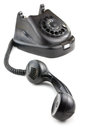 Antique black phone Royalty Free Stock Images