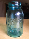 Antique Blue Ball Perfect Mason Jar Royalty Free Stock Photo
