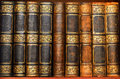 Antique books in old library Royalty Free Stock Photo