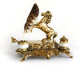 Antique brass inkwell Horse Royalty Free Stock Photo