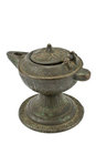 Antique bronze oil lamp Stock Photo
