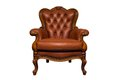 Antique brown leather chair Royalty Free Stock Photo