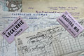 Antique Caledonian Railway documents. Royalty Free Stock Photo