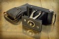 Antique camera. Royalty Free Stock Image
