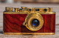 An antique camera old made in s photo closeup Royalty Free Stock Image