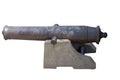 Antique cannon old ship gun image on white background Stock Photos