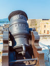 Antique Canon Inside old fortress, Kerkyra, Corfu, Greece Royalty Free Stock Photo