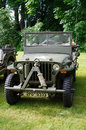 Antique car jeep exhibited military vehicle Royalty Free Stock Photo