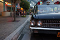 Antique car in universal studios singapore at Royalty Free Stock Images