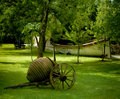 Antique cart in garden Royalty Free Stock Photo