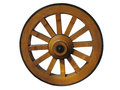 Antique Cart Wheel made of wood Royalty Free Stock Photo
